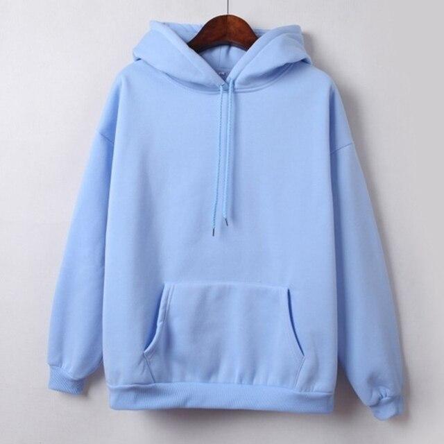 Hooded Tops Women's Sweatshirt Long-Sleeved Winter Velvet Thickening Coat 5