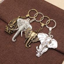 Elephant Keychain Mix Ganesha Statue Key Chain Pendant Charms For Women Jewlery Materials