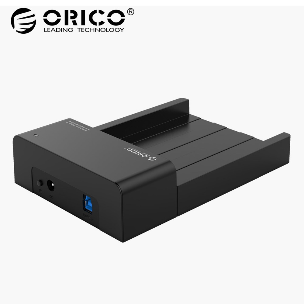 ORICO 6518US3-V2 Super Speed USB 3.0 HDD & SSD Docking Station for 2.5 & 3.5 inch hard drive SATA Support 4TB HDD-Black orico 6518us3 v2 super speed usb 3 0 hdd