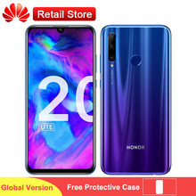 HONOR 20 lite Global Version 4G Smartphone 6.21 inch Full Screen Kirin 710 Android 9.0 Four Camera 3400mAh Fast Charge Phones(China)