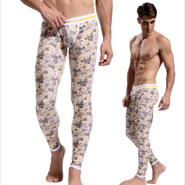 Print long johns sexy printed long johns pants colorful cotton lucky john good quality thermal underwear