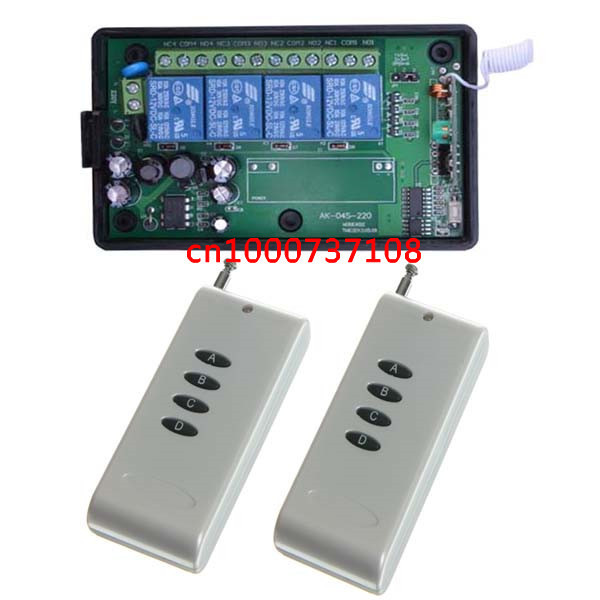 Подробнее о Free shipping AC220V 4CH RF Wireless electro motor 315mhz wireless remote control socket ac dimmer 220v free shipping ac 200v 220v coils 2p2t 8 terminals motor control power relay w socket