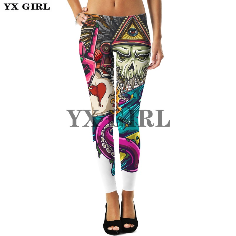 3d Print Colorful Beautiful Flower Floral Leggings For Women Gothic Trousers Thermal Sexy Elastic Workout Goth Fitness Pants