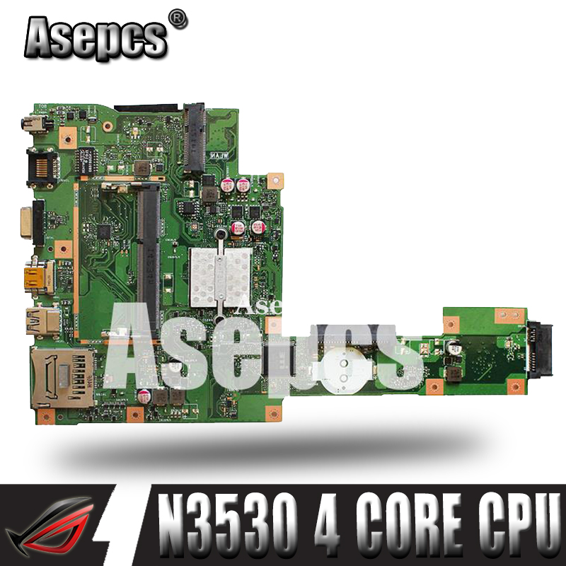 Asepcs X553MA Laptop motherboard for ASUS X553MA X553M A553MA D553M F553MA K553M Test original mainboard N3530/N3540 4-Core CPUAsepcs X553MA Laptop motherboard for ASUS X553MA X553M A553MA D553M F553MA K553M Test original mainboard N3530/N3540 4-Core CPU