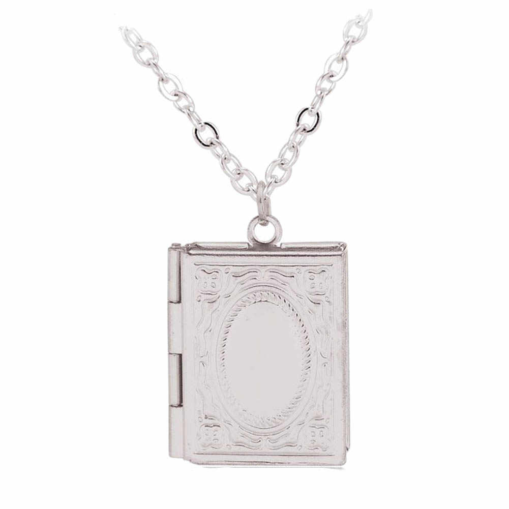 Модный резной Винтажный стиль нежный Обучающая книга медальон ожерелье секретное скрытое место фото медальон ожерелье коробочка с фотографией
