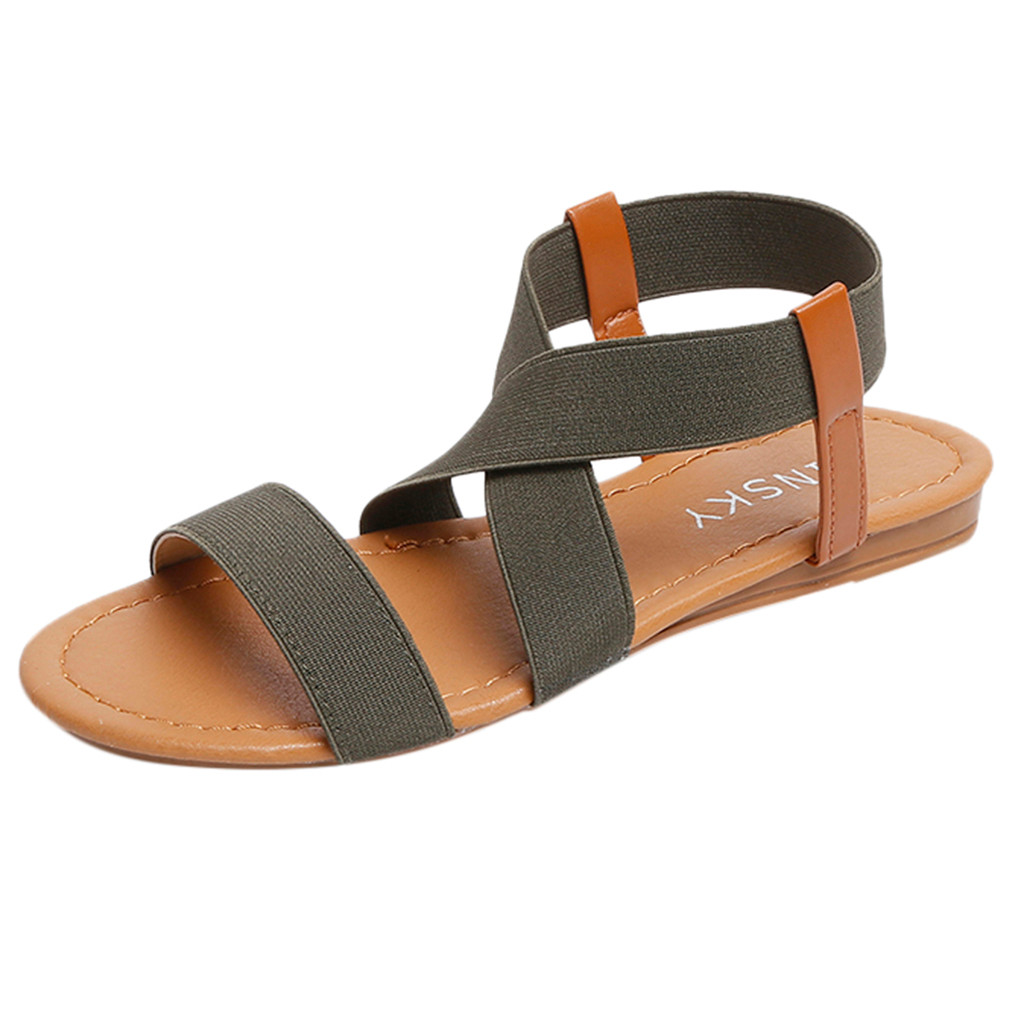 HTB1ZDBXasvrK1Rjy0Feq6ATmVXag 2019 Women's Sandals Spring Summer Ladies Shoes Low Heel Anti Skidding Beach Shoes Peep-toe Fashion Casual Walking sandalias