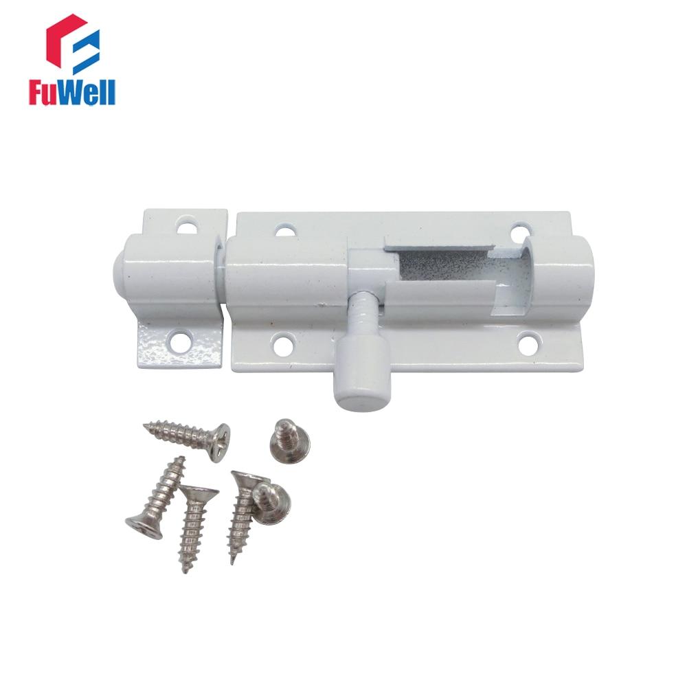 4pcs Barrel Bolt 2/3/4/5/6/8inch Aluminum Alloy Door Latch White Door Bolt Latch Lock Hardware for Home Gate Safety|Door Bolts| - AliExpress