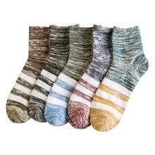 socks men cotton winter coolmax long striped sports gifts for mens fashion streetwear  sneaker calcetines antideslizante 5 pair