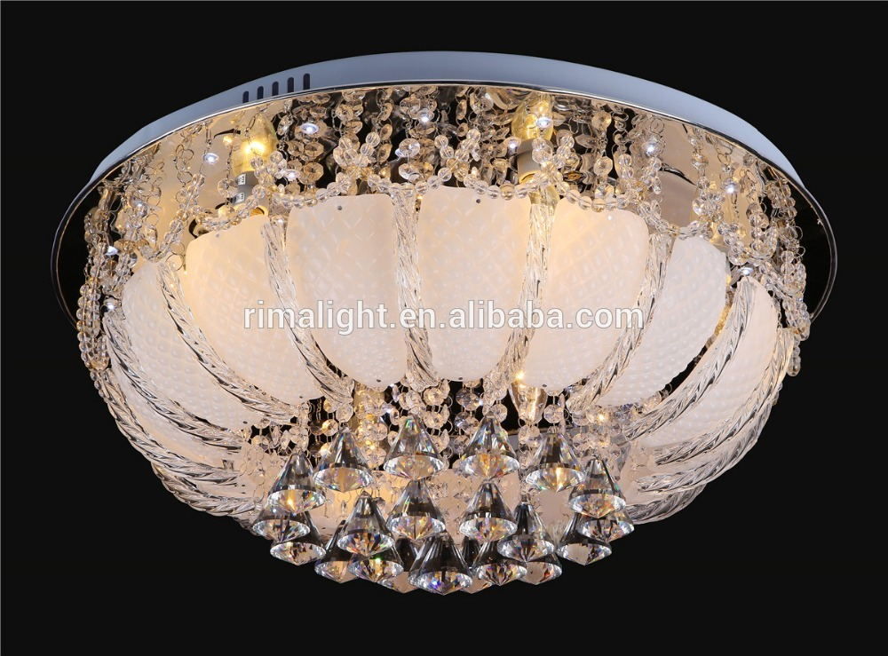 free shipping new led crystal ceiling lamp with MP3 music light ...