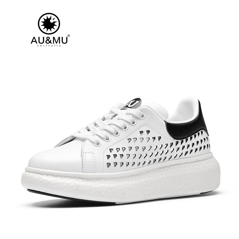 2018 AUMU Australia Breathable Thick Platform Casual Shoes G710 2018 aumu australia rhinestone shiny