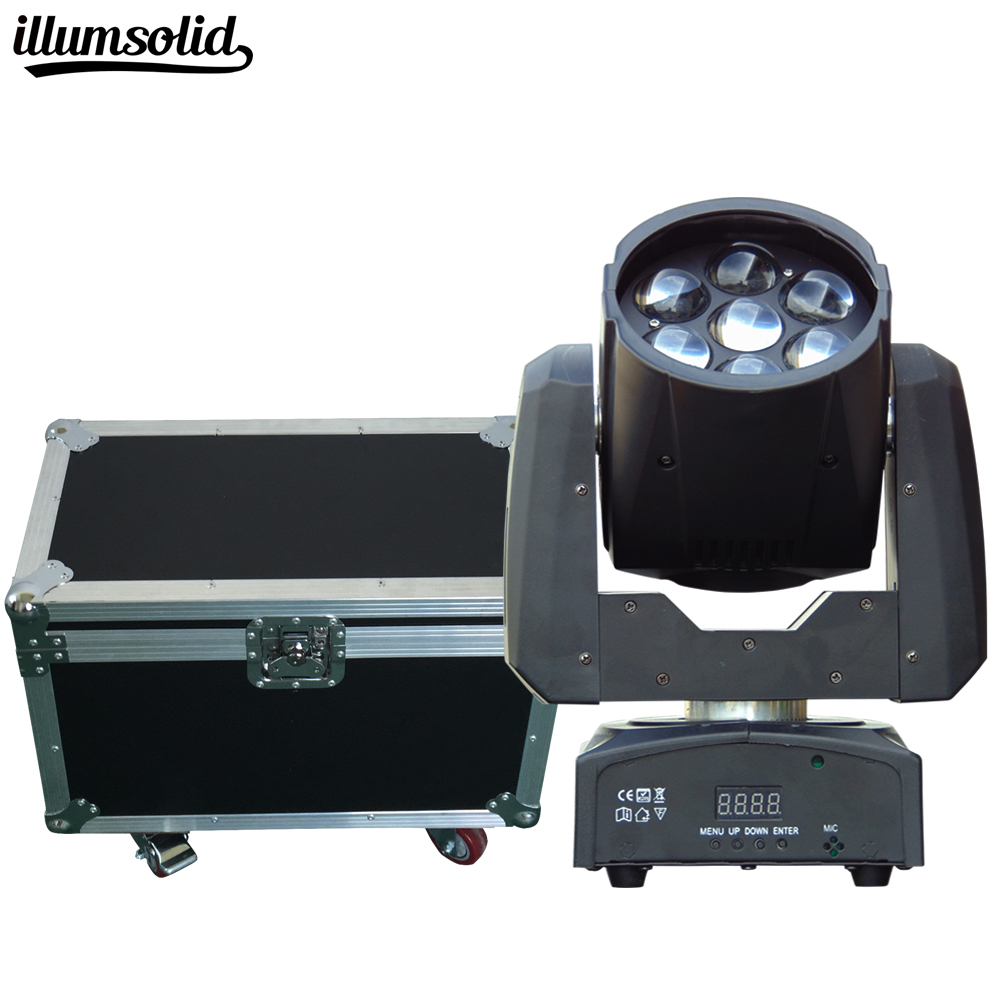 2 pcs/lot Vol Cas Emballé Haute luminosité 7X12 w LED ZOOM Moving Head Light 7x12 w LED wash dj disco éclairage