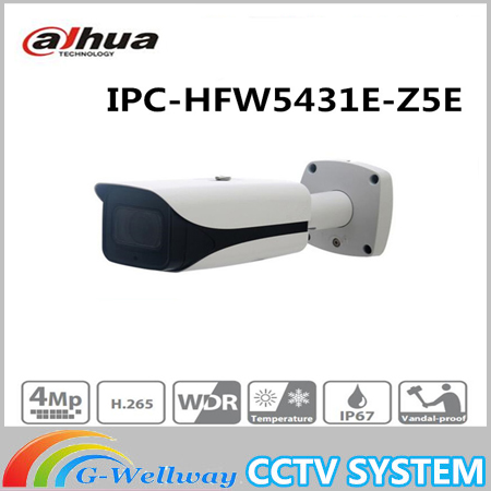 Free Shipping Brand CCTV IP Camera 4MP WDR IR Bullet Network Camera with POE without Logo IPC-HFW5431E-Z5E free shipping dahua ip camera cctv 6mp wdr ir eyeball network camera with poe ip67 without logo ipc hdw5631r ze