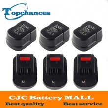 6X High quality 12V 2000mAh Replacement Power Tool Battery NI-CD For Black&Decker A12, A12-XJ, A12EX,A1712 FS120B, FSB12, HPB12
