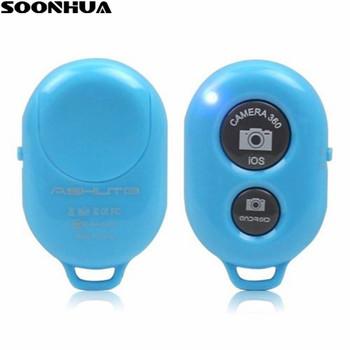 Bezprzewodowy Bluetooth Selfie Stick przenośny pilot migawki 1 zestaw Monopod przycisk samowyzwalacz dla iPhone Xiaomi Samsung tanie i dobre opinie sheingka Z tworzywa sztucznego Smartfony 50mm wireless selfie sticks 0 02kg AB Shutter 3 Bluetooth Version 3 0 2 4GHz~2 4835GHz