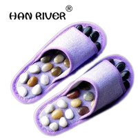 HANRIVER Hot Selling Pebbles Foot Massage Slippers Point Massage Health Care Shoes Foot Massage Foot Care