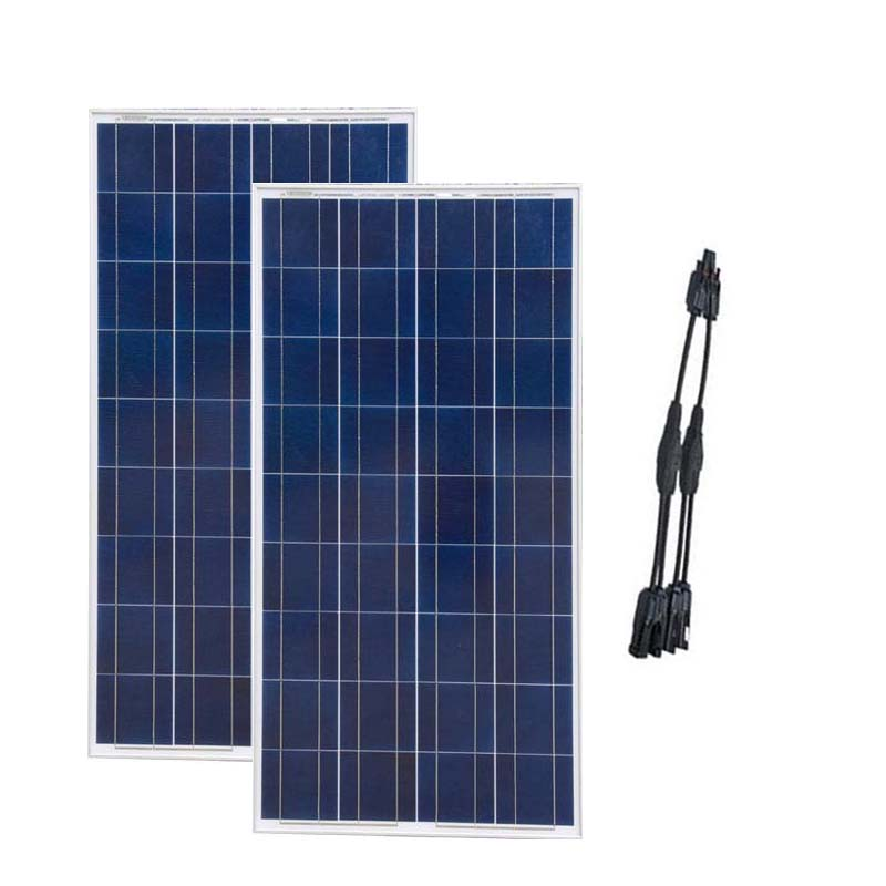 Panel Fotowoltaiczny 12v 150w 2Pcs Solar Panel 300w 24v Solar Battery Charger Rv Motorhome Caravan Car Camping Solar Light LED
