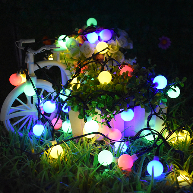Solar outdoor string lights 30 led waterproof ball christmas lamps solar outdoor string lights 30 led waterproof ball christmas lamps solar powered starry fairy light for aloadofball Image collections
