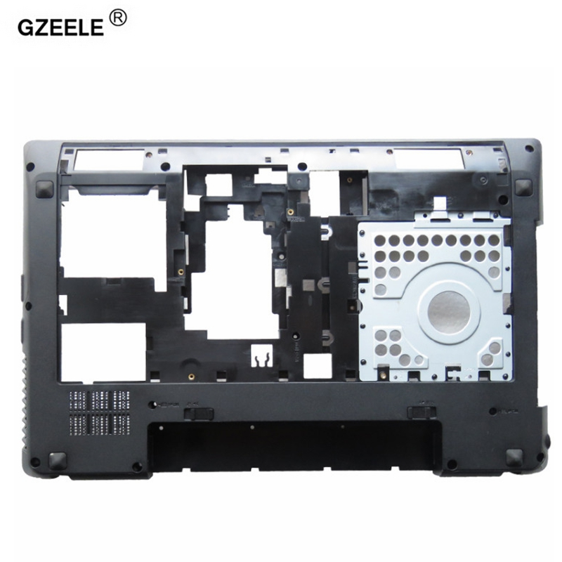 GZEELE NEW For LENOVO G580 G585 Laptop Bottom Case Base Cover With HDMI Port Drawing Bench 604SH01012 AP0N2000100 replace  shell new bottom base box for dell inspiron 15 5000 5564 5565 5567 base cn t7j6n t7j6n