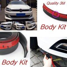 Бампер и Спойлер Для Губ Дефлектор Губы Для Volkswagen VW Golf 3 4 5 6 7 Кролика Caribe Cabrio/Передняя Юбка/Полосы/Anti-Scratch