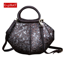 GiftoO Women Genuine Leather Hobo Bag Female Real Leather Handbag Luxury Woman Office Fashion Bag Large Casual Shoulder Bags