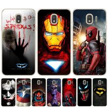 Marvel DC Comics Iron Man Spider-Man joker Batman Cover Phone Case for Samsung J3 J5 J7 2017 16 J4 J6 Plus 2018 Note 8 9 10 Pro(China)