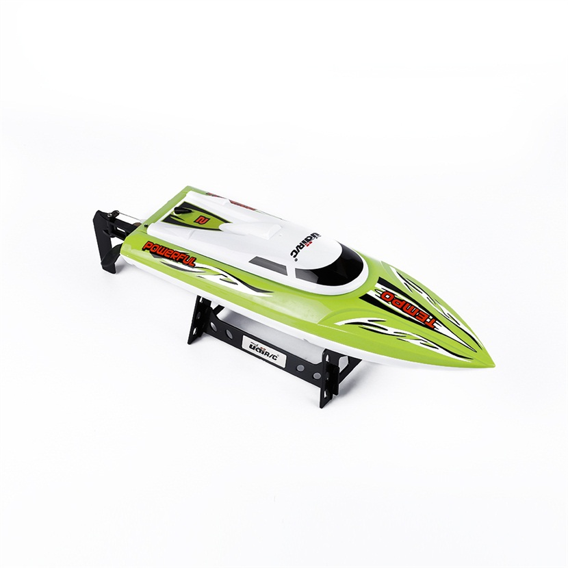 Hot Sale 2.4G RC 30KM/H Racing Boat Speedboat Remote Controller for UDI012 with Blue and Green RC Boats hot sale new ft012 upgraded ft009 2 4g brushless rc remote control racing boat toy