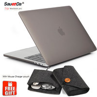 SauceDa Laptop Case For Macbook Pro 13 15 Inch 2016 Model A1706 A1707 A1708 Matte Plastic