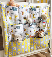 New 2016 Brand Baby Bed Crib Rooms Nursery Hanging Storage Bags For Home Decorations Organizer Pocket
