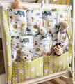 Nuevo 2016 marca bebé cama cuna guardería habitaciones colgar bolsas de almacenamiento organizador de bolsillo de decoración para el hogar armario bolsa organizadora