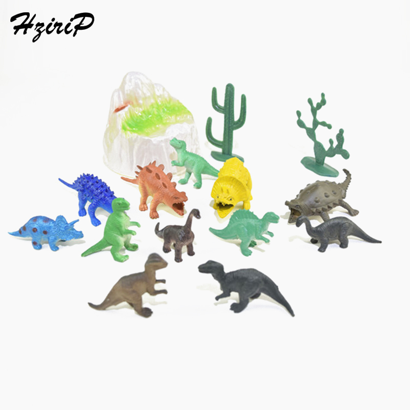 HziriP New 15PCS Dinosaur Model Sets Kids Toys Simulation Plastic Animal Pretend Play Action Figures Puzzle Toy for Box Gifts