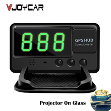 VJOYCAR C60 Universal GPS HUD Speed odometer Head UP Display Digital Car Speedometer Overspeed Alert,free shipping!