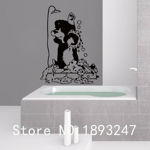 Grooming-Salon-Vet-Clinic-Pet-Salon-Vinyl-Wall-Decal-Dog-In-Shower-Mural-Art-Wall-Sticker.jpg_640x640