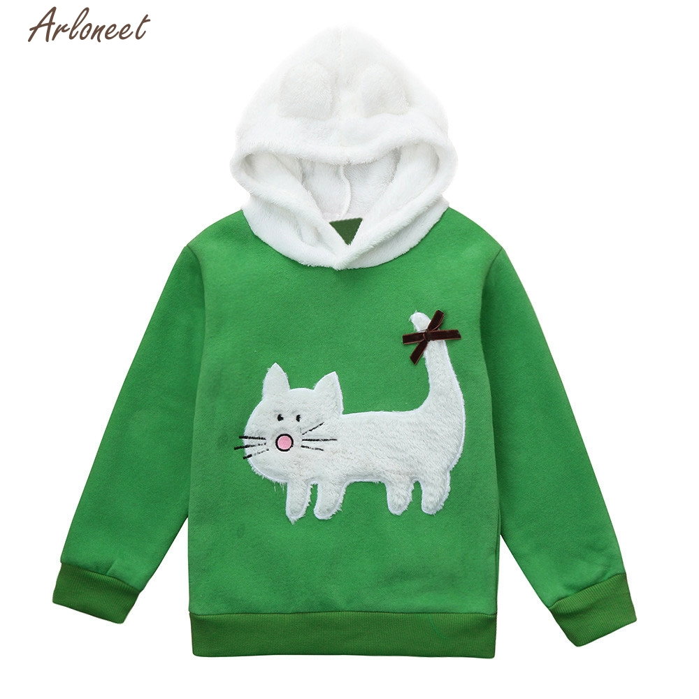 2017 FASHION Baby Girls Boys Kids Hooded Cartoon Hoodie Rabbit Warm Tops Children Clothes Y110730