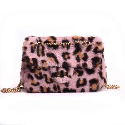 ... NEW Bags Women Leopard Print Famous Brand Velour Chain Flap Shoulder  Bags Female Messenger Bag Girls ... 2371e99466112