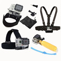 For Gopro accessories 7 in 1 kit head strap+chest starp+wrist strap+float+Screw mount +base adapter+pouch for xiaomi yi