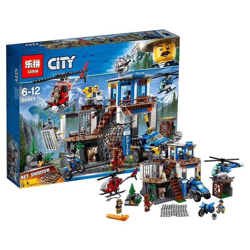 In Stock Lepin 02097 City Series The Mountain Police Headquater legoing 60174 Building Block Bricks Toy Model As Gifts For Kids