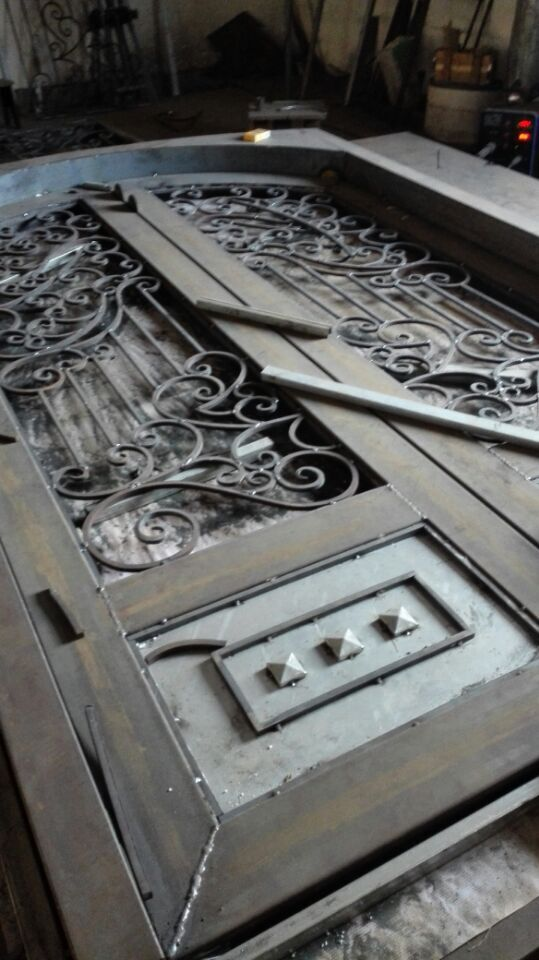 Shanghai China factory wrought Iron doors 72x96 inches hench ard1