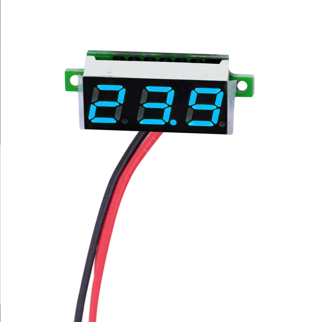Mini Digital Voltmeter Voltage Tester Meter 0.28 Inch 2.5V-30V LED Screen Electronic Parts Accessories Digital Voltmeter mini voltmeter tester digital voltage test battery dc 0 30v red blue green auto car