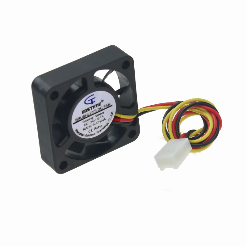 Gdstime 5 Piece Small Fan 40mm 40x10mm DC 24V Three Wires 3 Pin Brushless Cooling Fan 40x40mm 4cm 24 Volt Cooler 20 pieces lot gdstime 40mm 40 x 40 x 10mm 4010s dc 12v 2p brushless cooler cooling fan