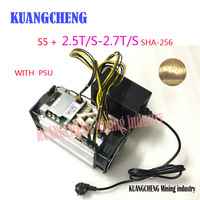 KUANGCHENG Mining BITMAIN S5 WITH SPU Antminer S5 2 5TH Asic Miner 2500GH Super Btc Miner