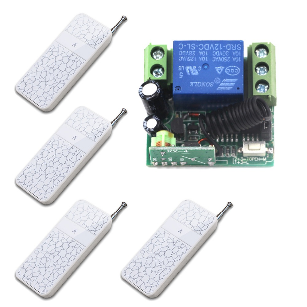 Free Shipping DC12V 1CH Wireless Remote Control Switch System Smart Home Controller Receiver and Remote Control 315/433MHZ free shipping dc12v 1ch wireless remote