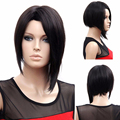 Free shipping Short Wig Fashion Wig Pelucas Pelo Corto Synthetic Wigs For Black Women 35cm Black Hair 18-38 years old