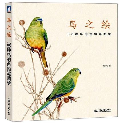 Chinese pencil drawing book 38 kinds of Birds color pencil painting textbook Tutorial art bookChinese pencil drawing book 38 kinds of Birds color pencil painting textbook Tutorial art book