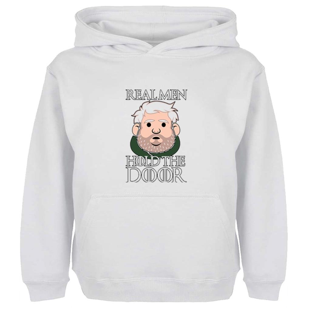 Unisex Sweatshirts For Boy Men Long sleeves Game of Thrones Hodor real men Hold the door