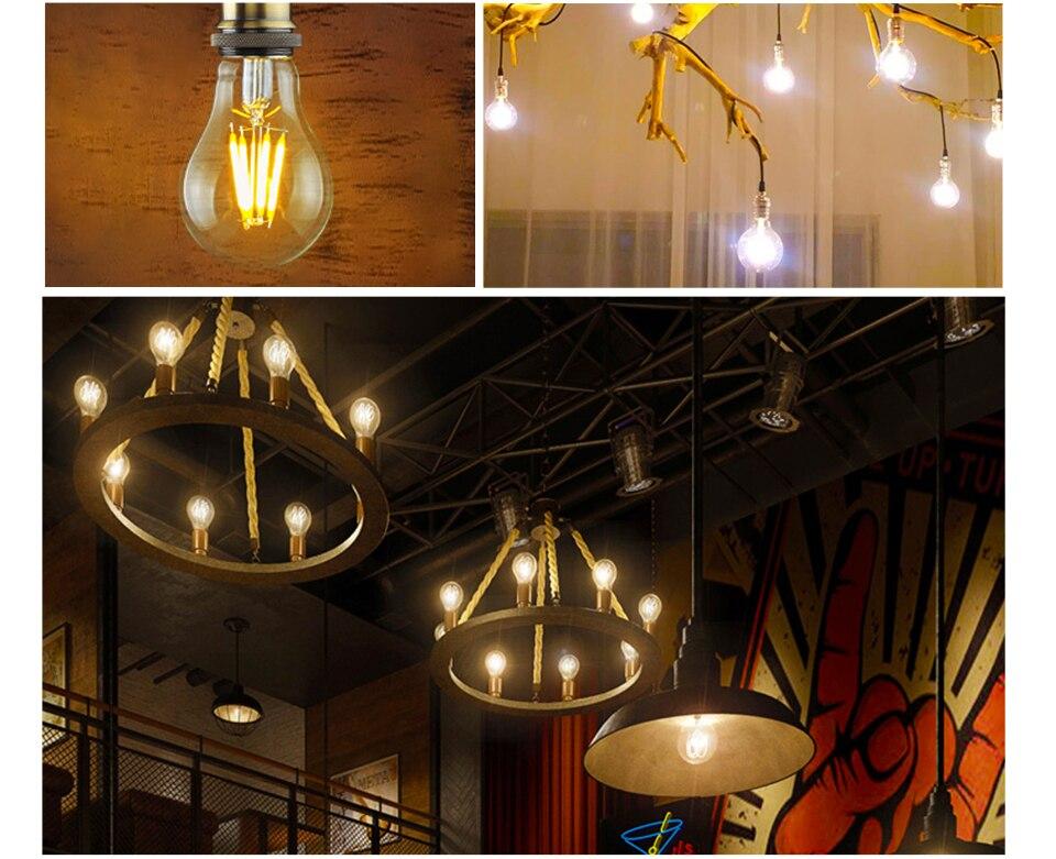 Dimmable Antique Retro Edison Incandescent LED lamp 110V E27 2W 4W 6W (3)