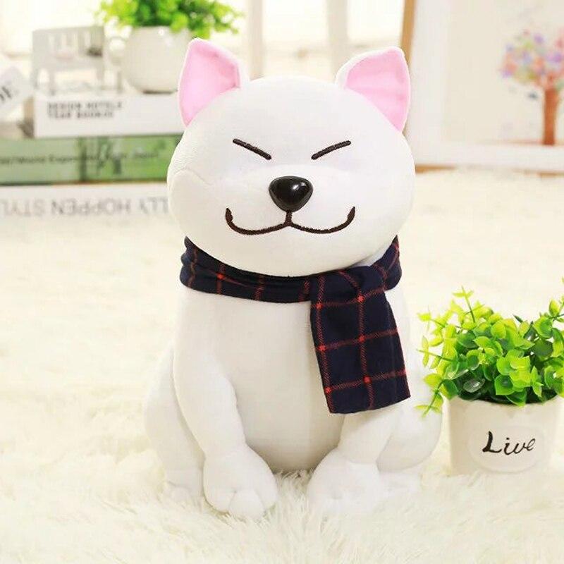 big new white Akita dog toy lovely plush fat sitting Akita dog doll gift about 45cm akita