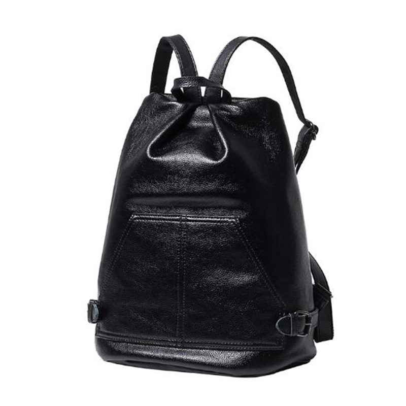 2016 Fashion Women Leather Backpacks Black Large School Bags For Teenagers Girls Shoulder Travel Bag Schoolbags Mochila Feminina dida bear women leather backpacks bolsas mochila feminina girls large schoolbags travel bag sac a dos black pink solid patchwork