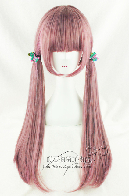 DHL 14 days arrival Gasai Yuno  Pink long straight cosplay costume wig,Have stock,Synthetic party hair,Free shipping