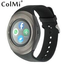 ColMi Y1 Ranuras Para Tarjetas TF Tarjeta SIM Reloj Inteligente Teléfono llamada Empuje Mensaje Podómetro Bluetooth Música Conectar con Teléfono Android reloj
