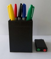 Free Shipping Color Match Color Pen Prediction Leather Pen Holder Magic Tricks Mentalism Magic Stage Magic